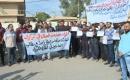 Kerkük'te Sözleşmeli Memurlar  Protesto Gösterisi Düzenledi