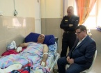 Kazanci,Türkmen Subayi İmat Ahmet'i Hastanede Ziyaret Etti