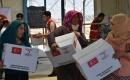 Türk Kızılay Tarafından Irak'taki Suriyeli Sığınmacı Ailelere Giyim Yardımı