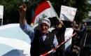 Hollanda'da Irak Büyükelçiliği Önünde Gösteri Düzenlendi