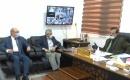 Şifa Sağlık Merkezi müdürü Dr. Kerim Veli, ITC Kerkük İl Başkanı Hişam Bayraktar'ı kabul etti