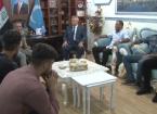 Muhtaroğlu Sporcu Bir Heyeti Kabul Etti