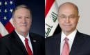 """Cumhurbaşkanı Salih ve ABD Dışişleri Bakanı """"DEAŞ ile Mücadeleyi"""" Görüştü"""