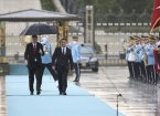 """Tükiye Cumhurbaşkanı Erdoğan, Kırgızistan Cumhurbaşkanı Caparov'u Resmi Törenle Karşıladı"""""""